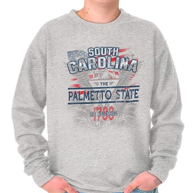 Carolina del Sur Estado American Eagle EE. UU. T patriótica Ideas de regalo para hombre - Gris - : Amazon.es: Ropa y accesorios