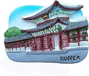 Gyeongbokgung Palace Seoul Korea 3D Fridge Magnet Souvenir Gift,Home & Kitchen Decoration Magnetic Sticker Seoul Korea Refrigerator Magnet Collection