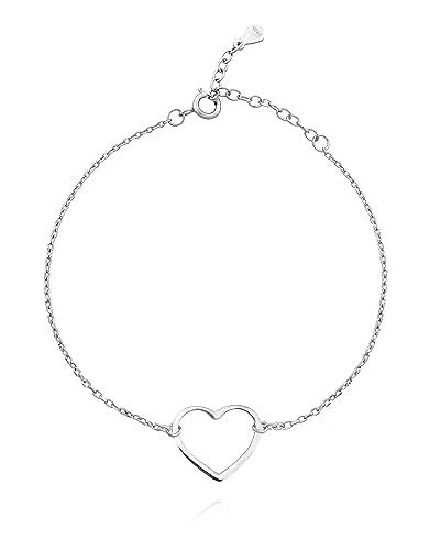 031683e5390c Sofia milani Mujer de pulsera con corazón plata 925 19 cm 30154 ...