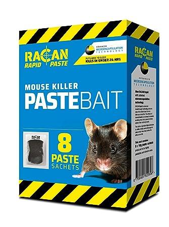 racan Rapid Ratón Veneno Eliminador Cebo 8x PASTA Scos MAX POTENCIA Ratones plaga: Amazon.es: Productos para mascotas