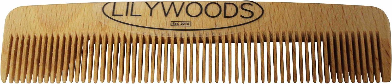 Lilywoods legno faggio naturale bambino pettine dei capelli per neonati e bambini 13 centimetri