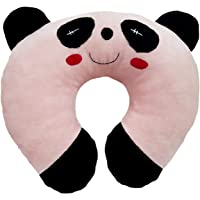 Ultra Soft Panda Designed Neck Cushion Pillow, Light Pink 14 inches
