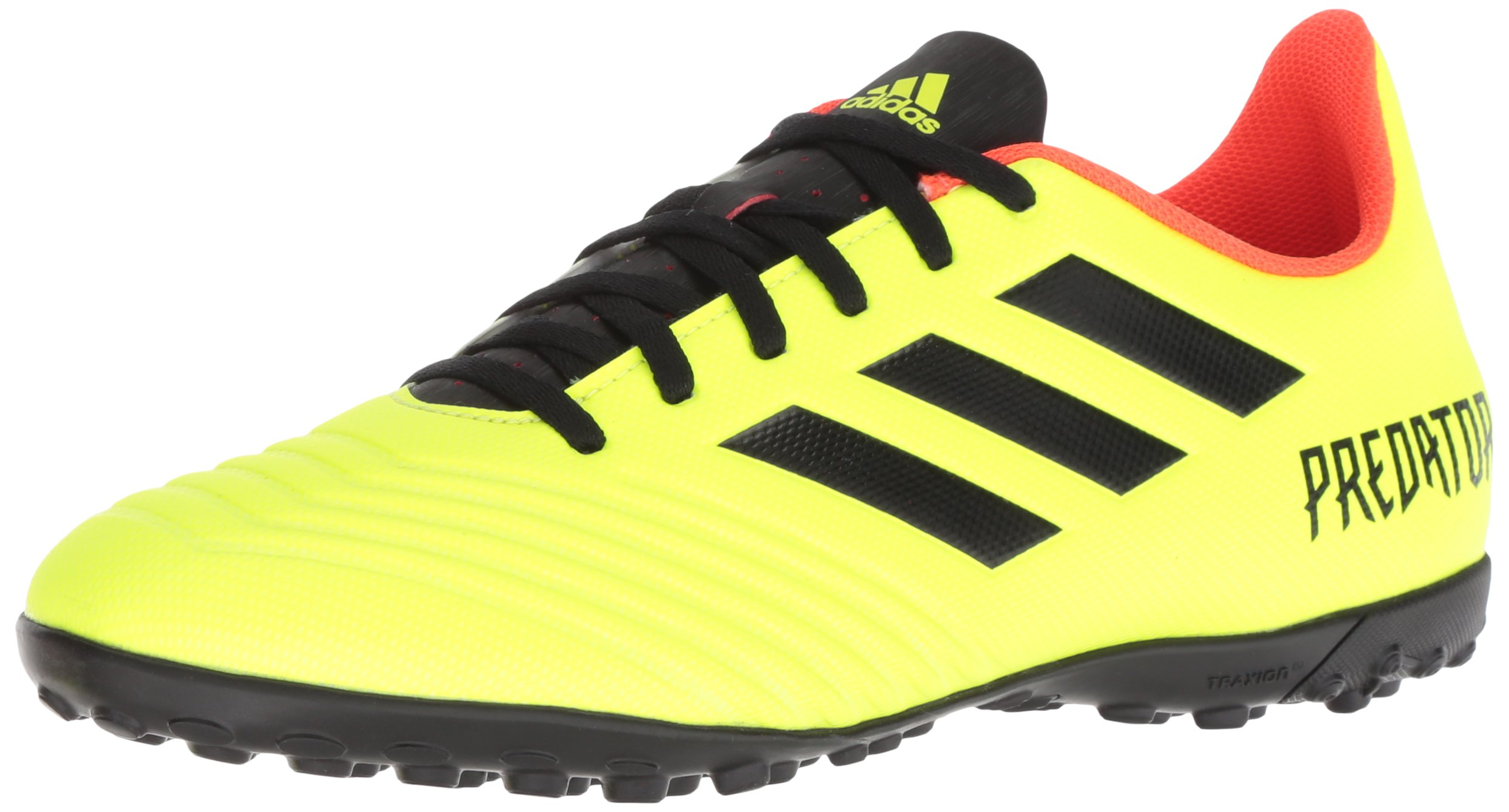 adidas Men's Predator Tango 18.4 Turf Soccer Shoe, Solar Yellow/Black/Solar Red, 10.5 M US