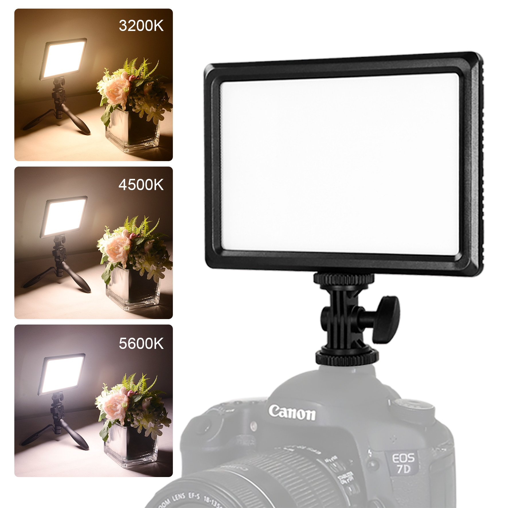 """NanGuang Luxpad22 3200K-5600K Dimmable LED Video Light, Bright Super Slim Design with ¼"""" Mount for YouTube Videos, Close-up,Portrait,Children,Wedding Photography,Outdoor Shooting and Video Shooting"""