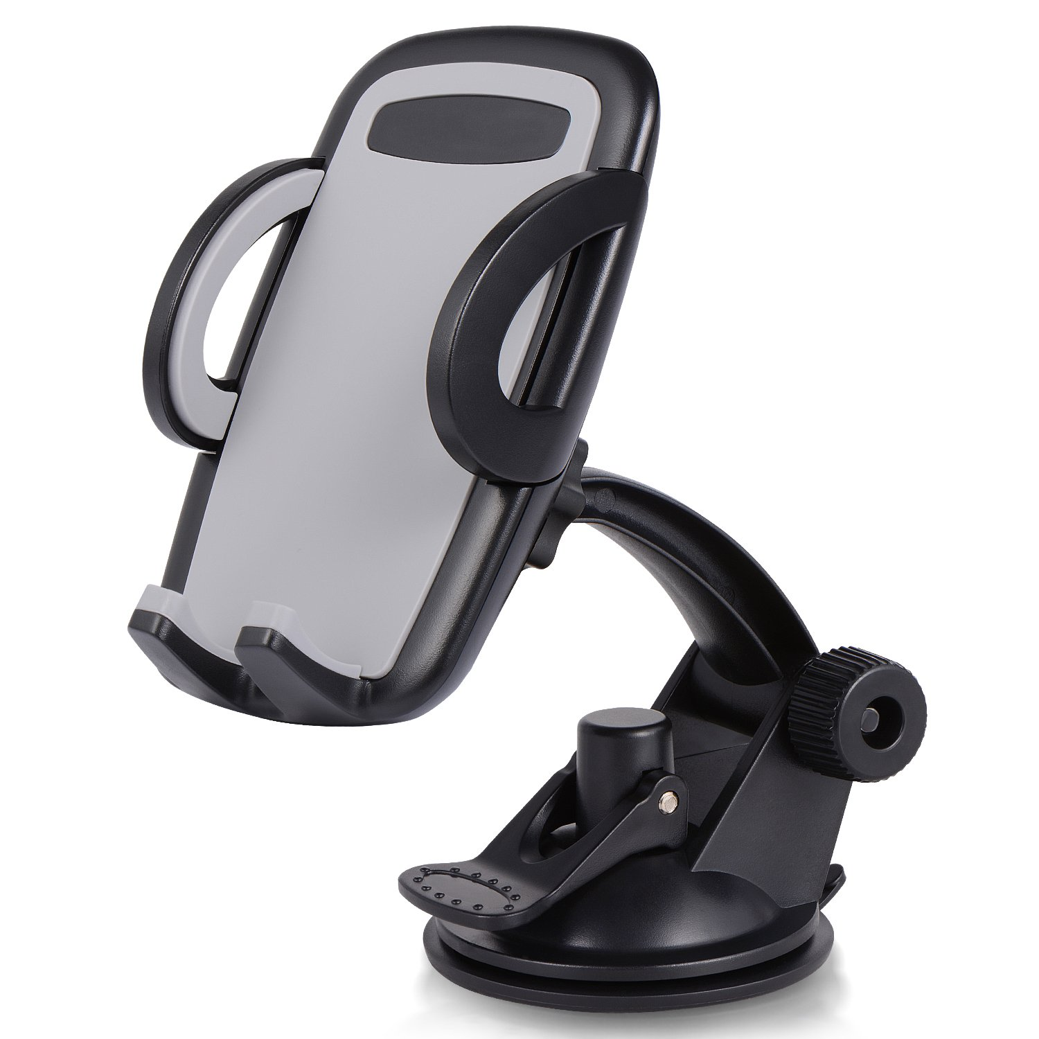 Car Mount Cradle with 4in to 6.5in Telescopic Arm and 180 Degree Rotation for iPhone Samsung and Other Smart Phones Amoner Dashboard Car Phone Holder