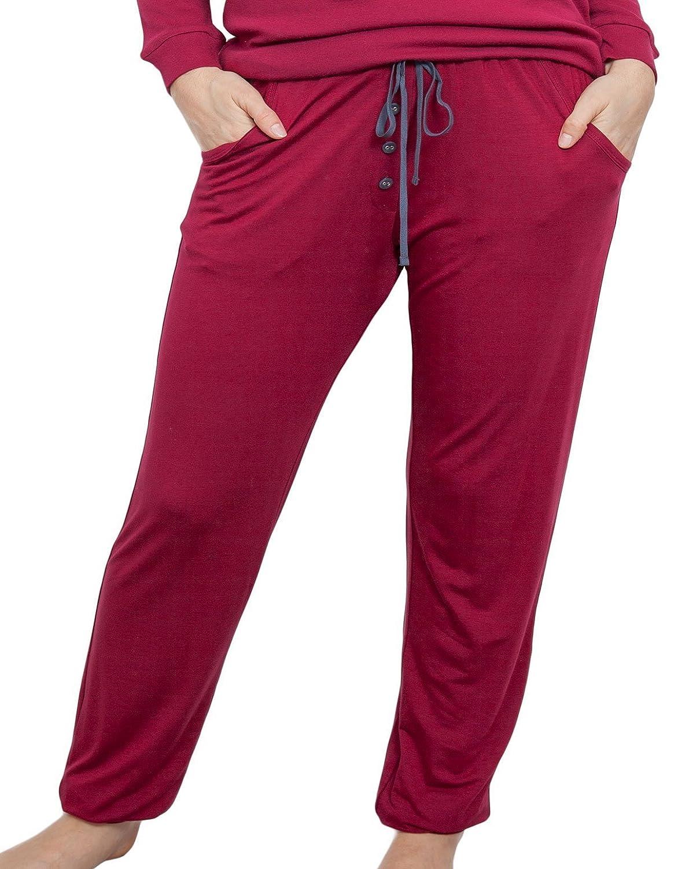 TALLA 34. Cyberjammies 3859 Women's Holly Red Pajama Pyjama Pant