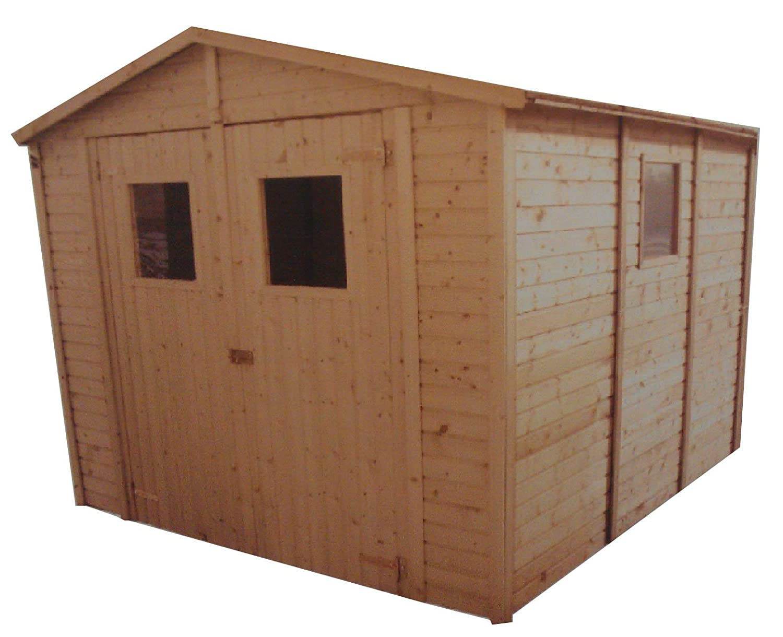CADEMA - Casa de madera para jardín, 3, 3 x 3, 9 m, (16 mm) con ventanas, incluye suelo, modelo: Sevilla: Amazon.es: Jardín