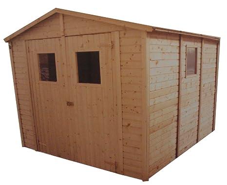 CADEMA - Casa de madera para jardín, 3,3 x 3,