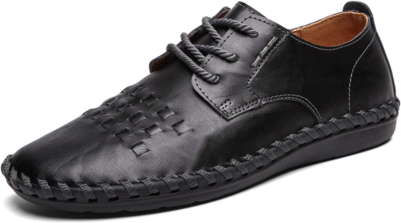 ZHShiny Hommes Mocassins en Cuir Casual Respirant Conduite Chaussures Bateau Oxford /à Lacets daffaires pour Homme Vintage Noir Marron Rouge 38-48EU