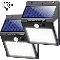 Luz solar para entrada al aire libre, 50 luces LED con sensor de movimiento, luces solares inalámbricas para exteriores…