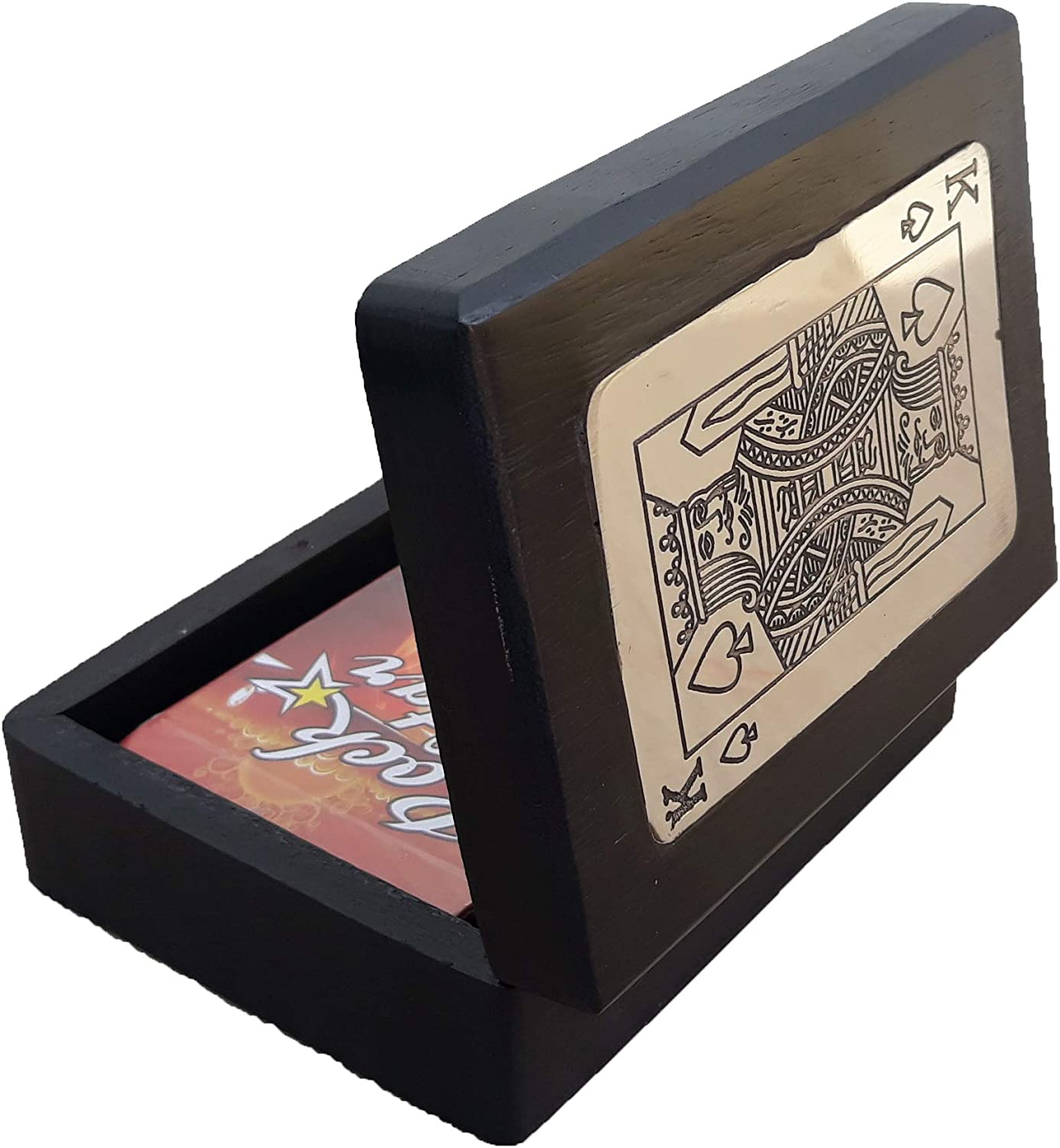 Shriji Crafts Wooden Boxes for Storage Playing Card Holder Artisan Crafted