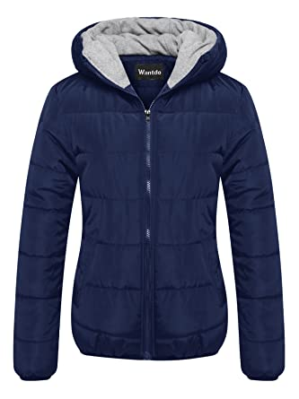 2a2511ca7 Wantdo Women's Winter Quilted Puffer Padded Cotton Warm Jacket with Hood