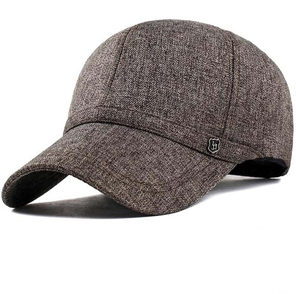 dcb3387cf3971 Elwow Men s Cotton   Linen Leisure Snapback Baseball Cap