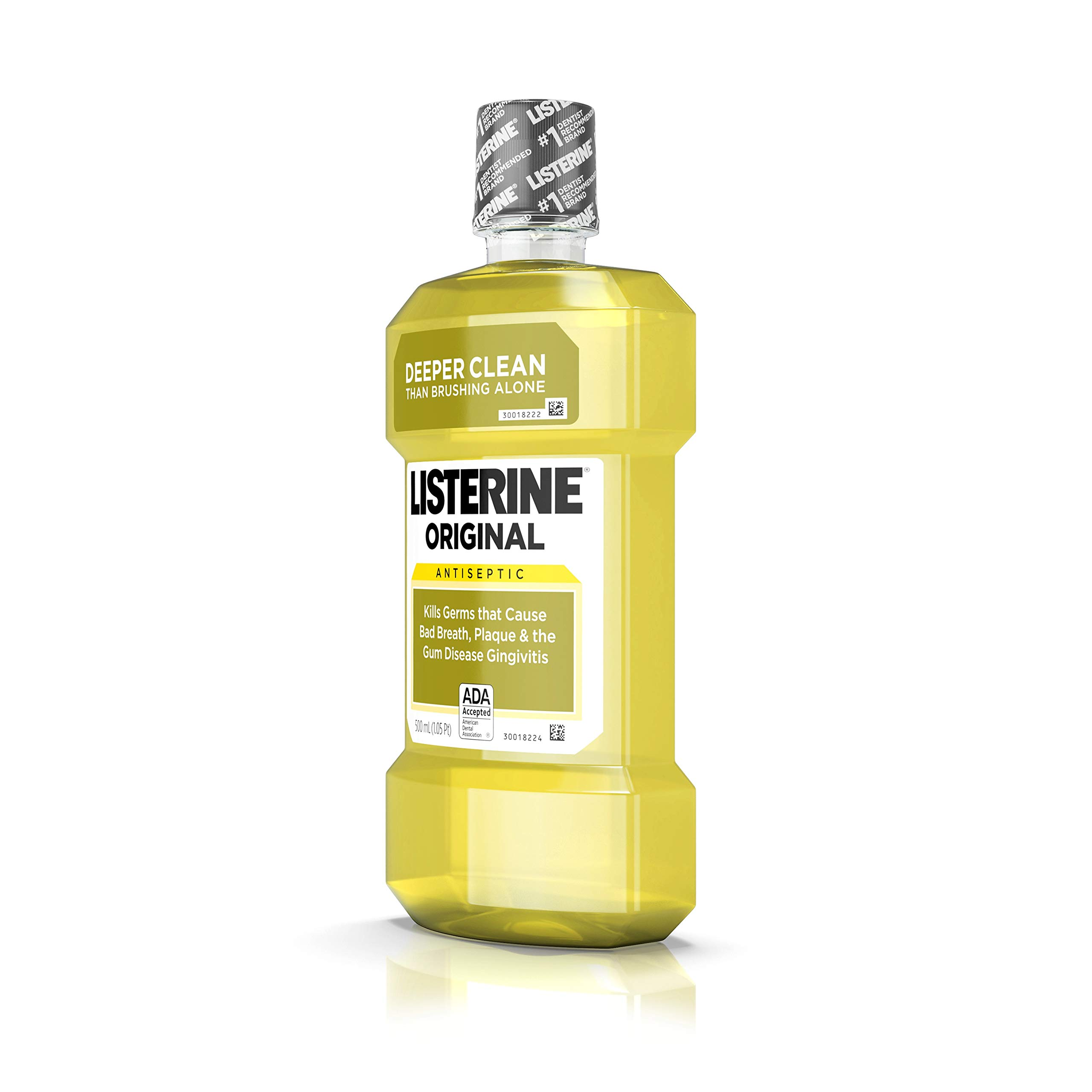 Listerine Original Antiseptic Mouthwash 500 mL (Packs of 4)