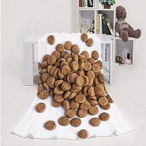 Pile of Dry pet's Food Croquette,Flannel Fleece Throw Blanket, Super Soft Cozy PBed Blanket Dog 60''x80''(WxL)