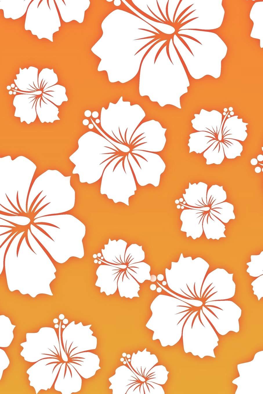Hawaiian Flowers Creative Pattern Notebook Journal 110 Lined