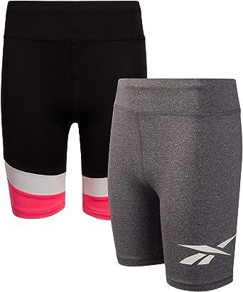 Amazon.com: Reebok Girls Active Shorts - Spandex Athletic High Waisted Gym  Workout Yoga Bike Shorts (2 Pack): Clothing
