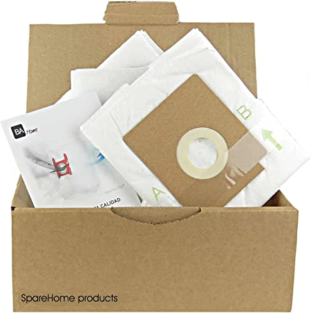 SpareHome 10 Bolsas + 2 microfiltros recortables para Aspirador Ufesa AS2200: Amazon.es: Hogar