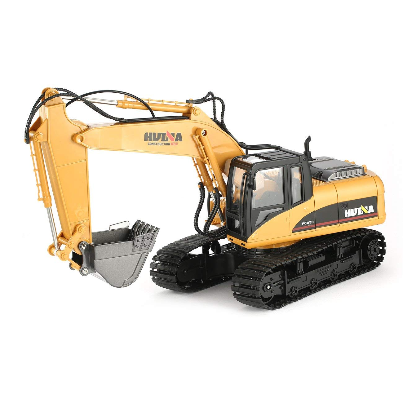 HUINA 1550 1/14 2.4G 15CH RC Alloy Excavator Truck Construction Vehicle Toy Jiobapiongxin