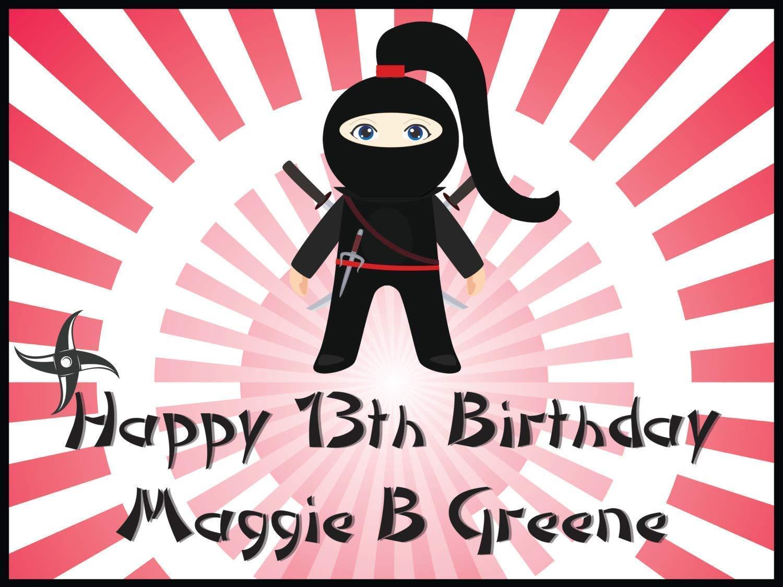 Amazon.com: Custom Home Decor Ninja Birthday Poster for ...
