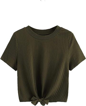Centre Knot top T-shirt girls Shoes Dance top Dark Grey