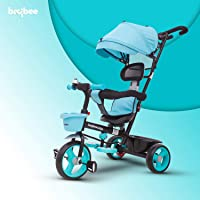 Baybee Easy Steer 2 in 1 Kids Tricycle Convertible Baby Tricycle Kid's Trike with Parental Adjust Push Handle Children with Seat Belt Kid's Ride Outdoor | Suitable for Boys & Girls