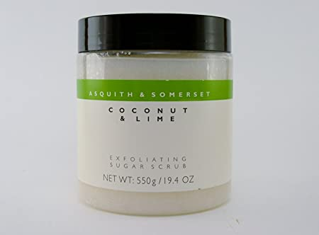 Asquith Somerset Coconut Lime Exfoliating Sugar Scrub, 19.4 Oz, Imported From England