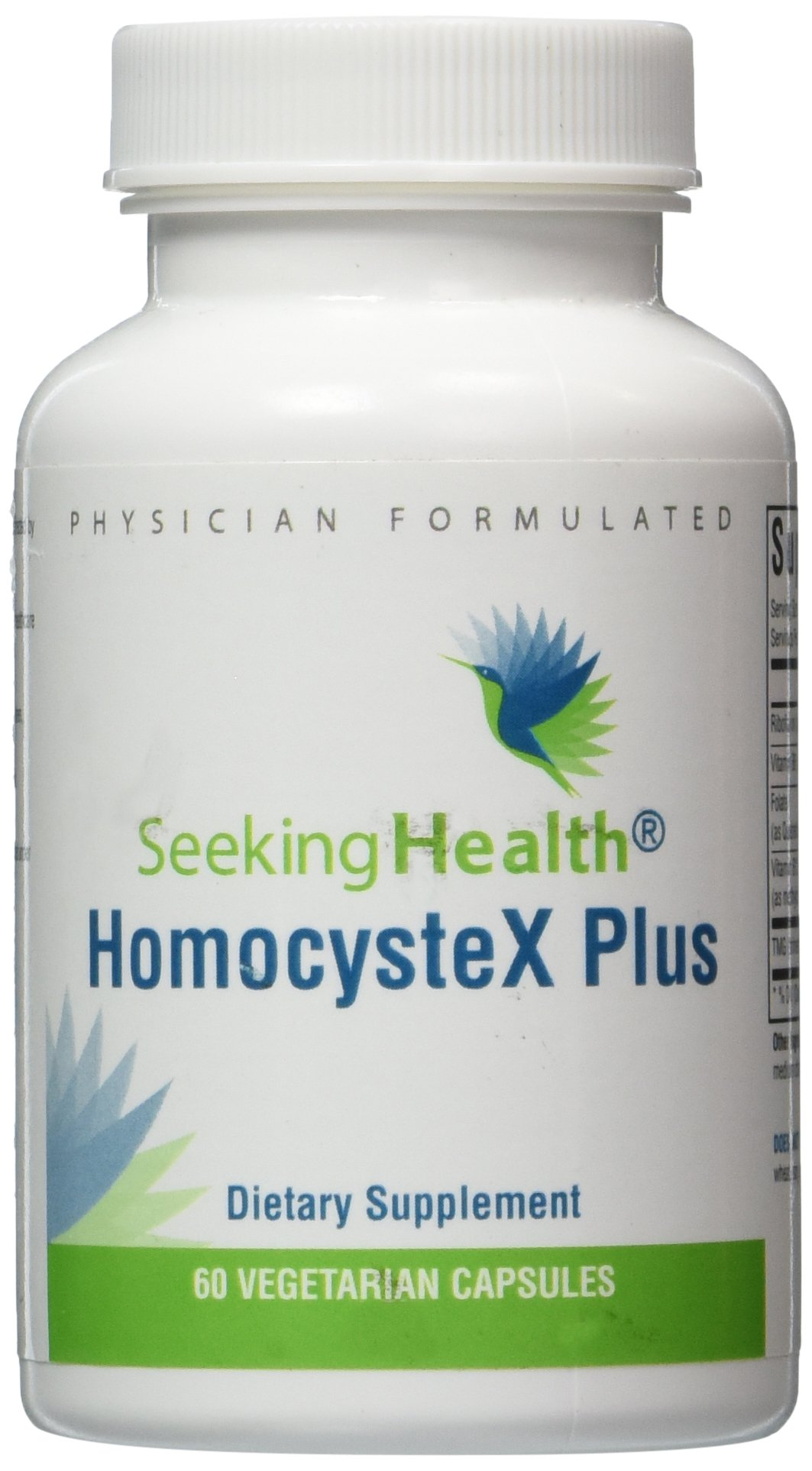 HomocysteX Plus | Provides Vitamins B2, B6, B12, Folate And TMG | 60 Vegetarian Capsules | Physician Formulated | Seeking Health