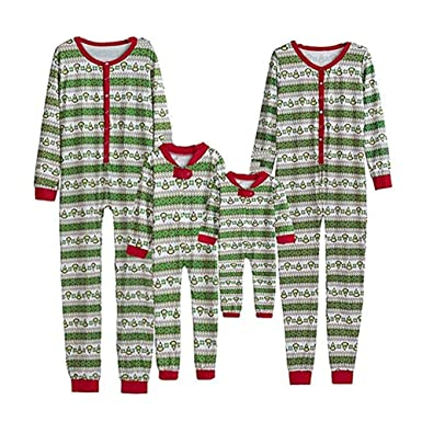 487432502f93 Christmas Family Matching Onesie Pajamas Sets Kids Adult Xmas Family  Clothes Sleepwear