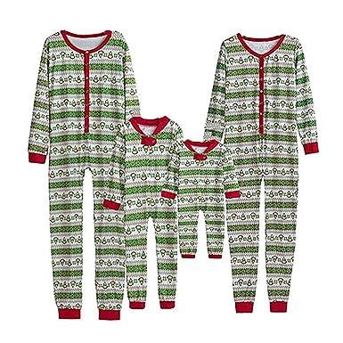 33e13e1e661a Amazon.com  Family Matching Christmas Pajamas Set Onesie Red White ...