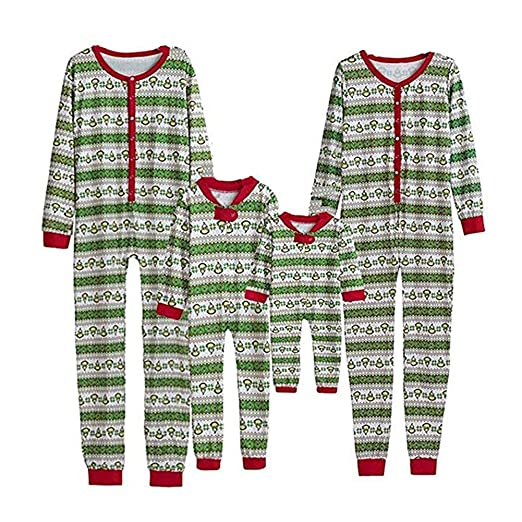 Christmas Family Matching Onesie Pajamas Sets Kids Adult Xmas Family  Clothes Sleepwear abc06fcb0