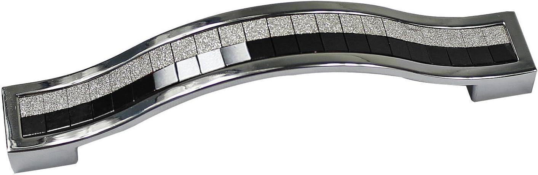96MM MONODY 10Pcs Poign/ée de Meubles Cristal Europ/éen Verre Boutons de Tiroirs Cabinet de Alliage de Zinc et Poign/ées