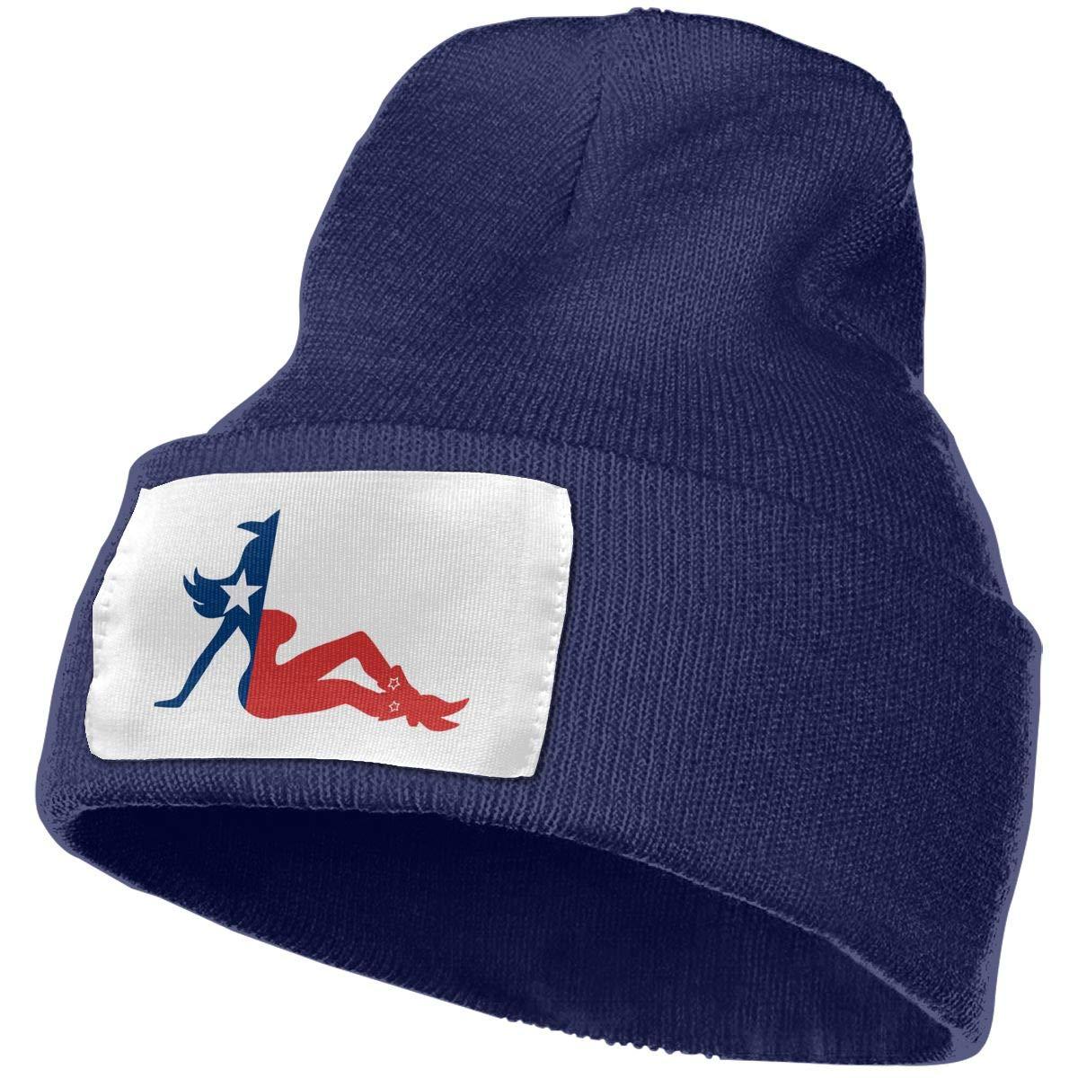 Adults Texas Flag Cowgirl Elastic Knitted Beanie Cap Winter Warm Skull Hats