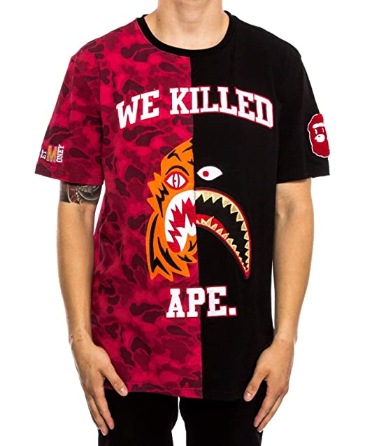 2cf76f36 Amazon.com: HUDSON Men We Killed Ape Graphic Split Monster Tee T-Shirt Red  3XL: Clothing