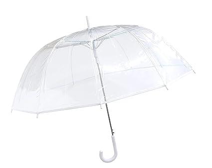 grande vente 1f5c3 47789 SMATI Grand Parapluie Transparent dôme, Ouverture Automatique, idéal pour  Le Mariage- Diametre: 102 cm pour 1 ou 2 Personnes