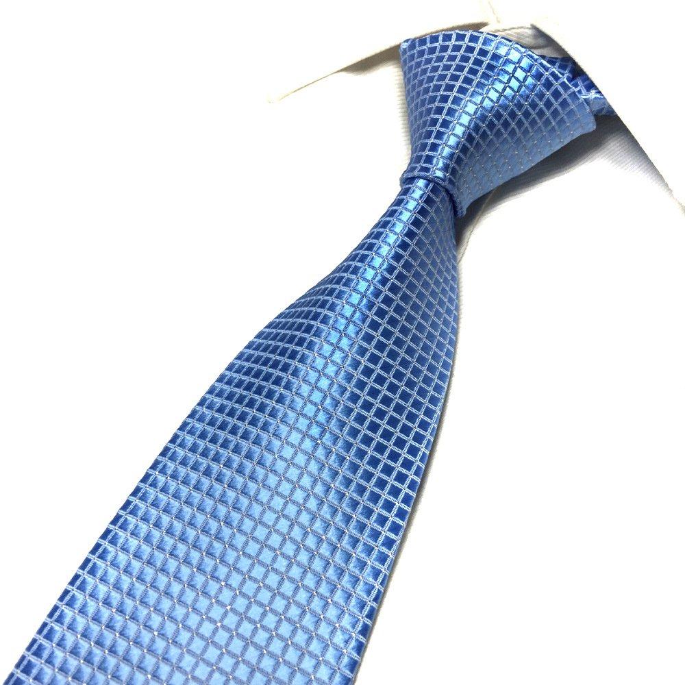 Men's Gentle French Blue Cravat Woven Tie Textile Business Summer Casual Necktie