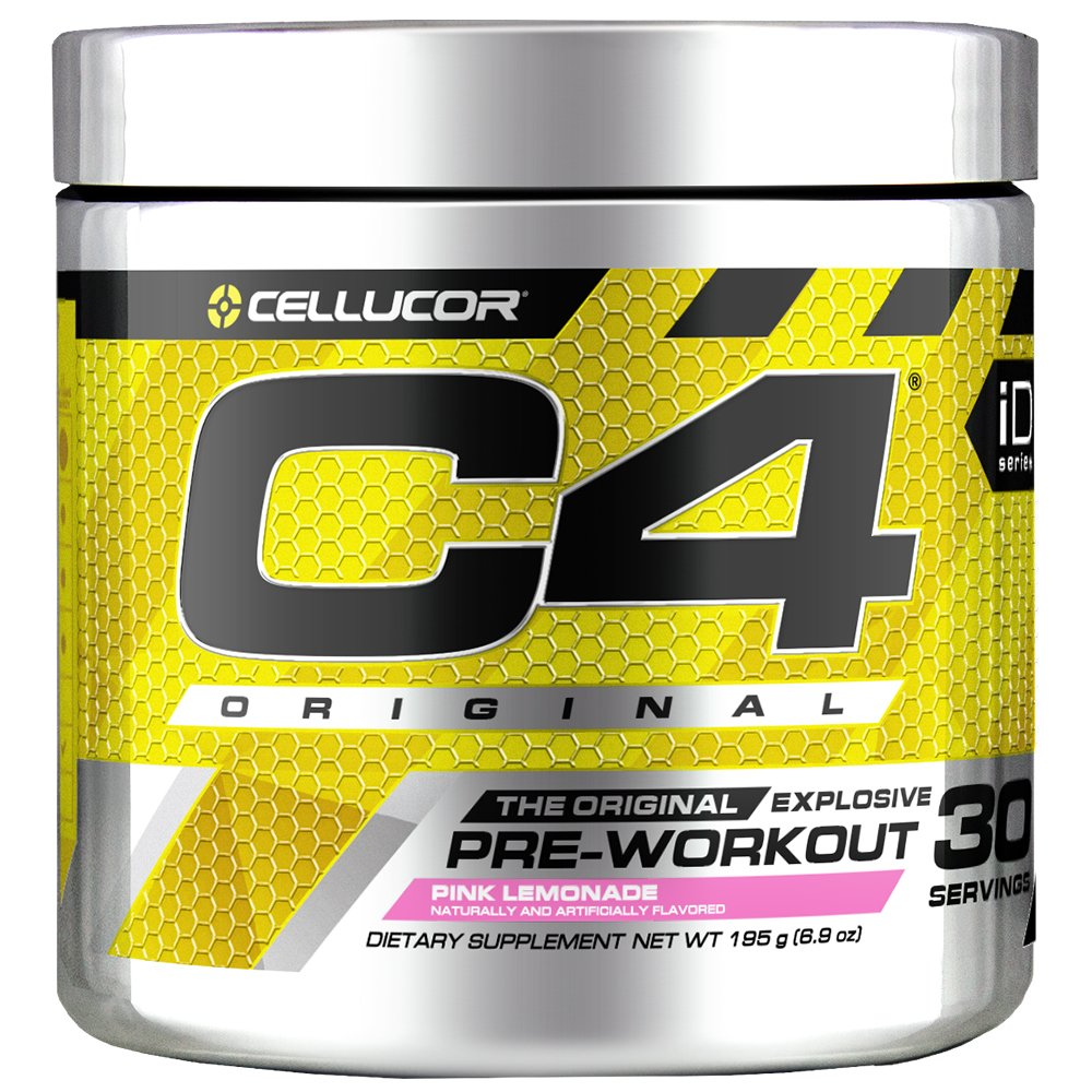 Cellucor C4 Original Pre Workout Powder Energy Drink Supplement For Men & Women with Creatine, Caffeine, Nitric Oxide Booster, Citrulline & Beta Alanine, Pink Lemonade, 30 Servings