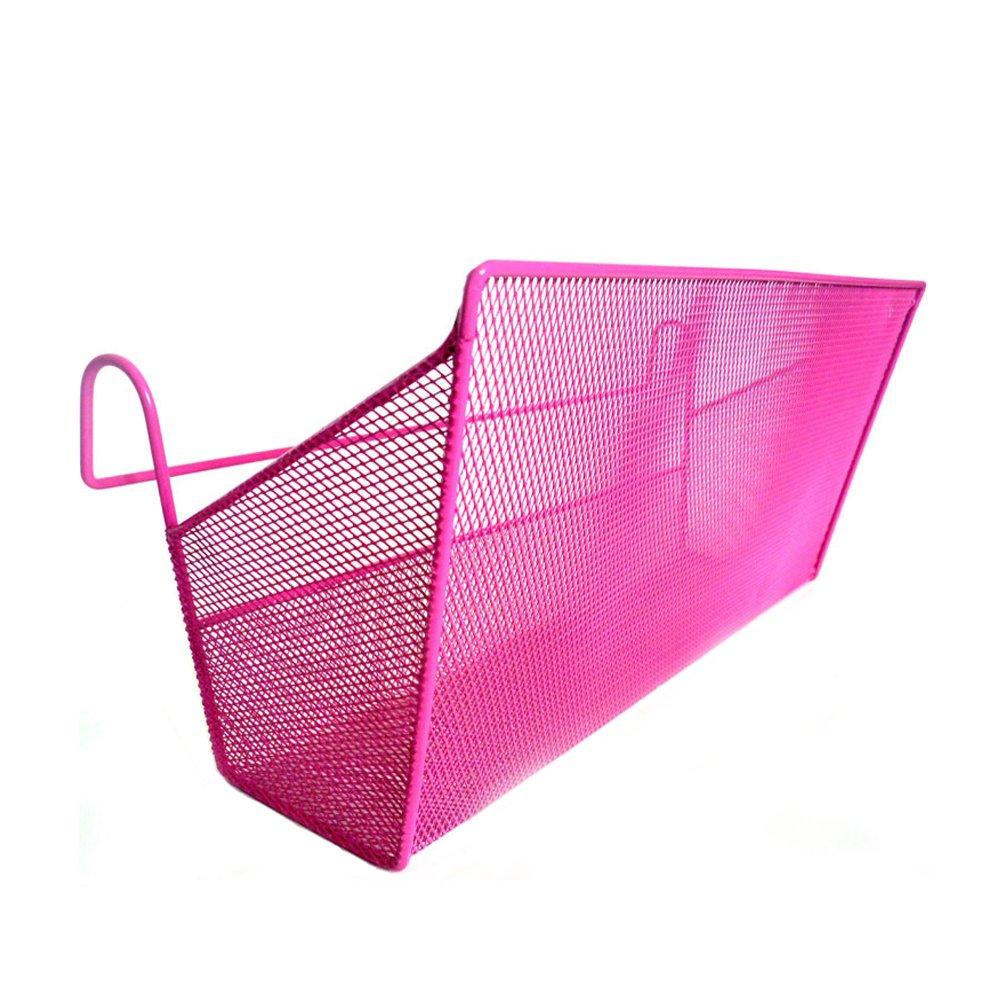 YAHUIPEIUS Iron Mesh Dormitory Bedside Hanging Baskets Wire Storage Basket Organizer Caddy for Dorm Room Loft Beds Mental bunk bed shelf (Blue)