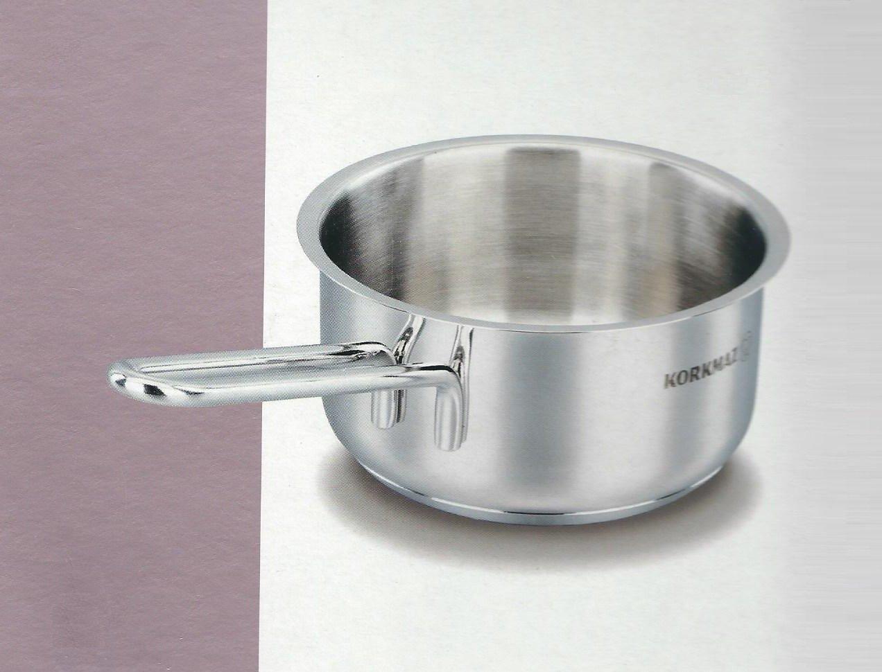 Korkmaz 18/10 Stainless Steel Saucepan 5.5''//1L - Solar Base System All Stove & Induction Pot 14cm