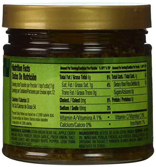 Amazon.com : Goya Chimichurri Steak Sauce with Spanish Olive Oil 7.5 oz : Grocery & Gourmet Food