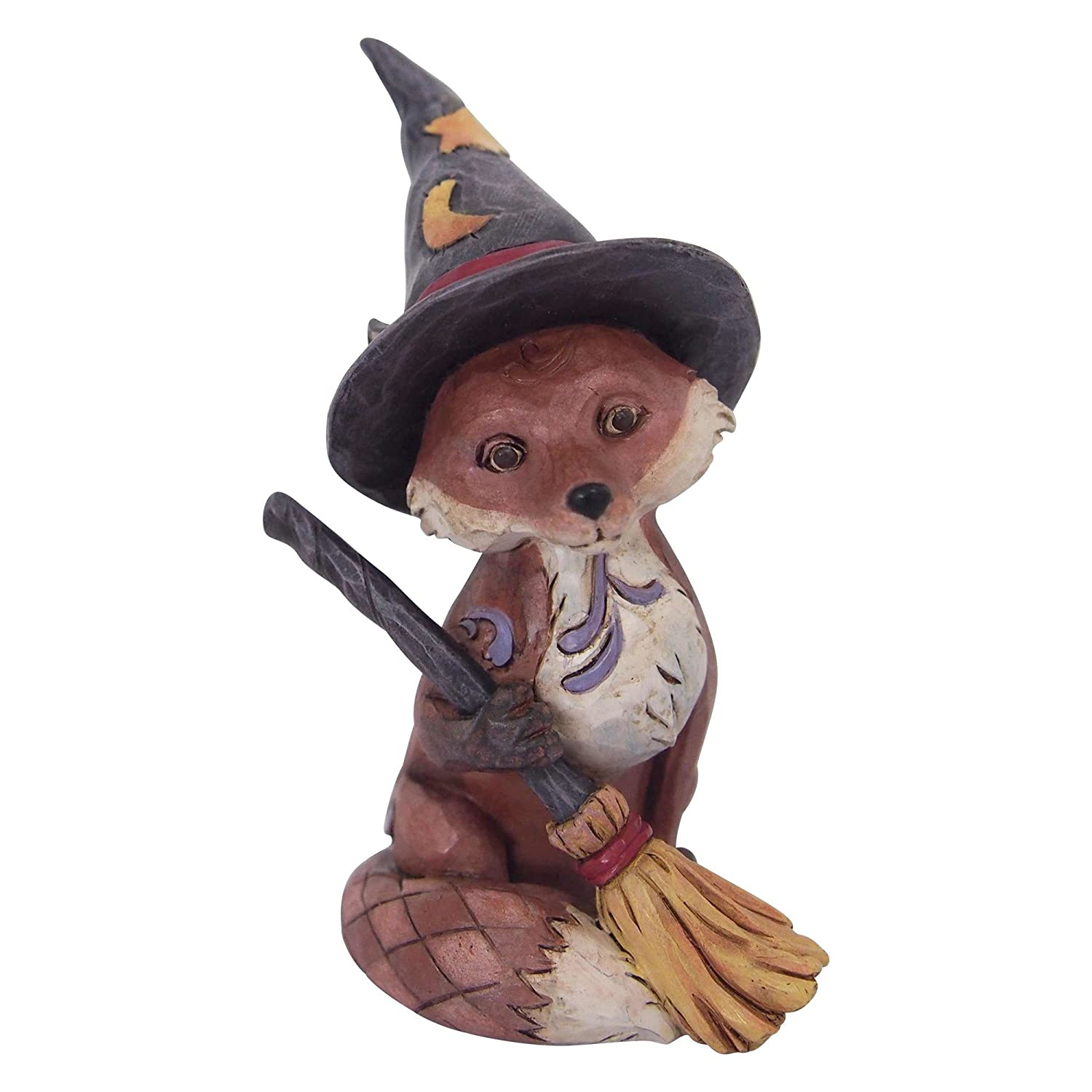 Enesco Jim Shore Heartwood Creek Halloween Figurine design with fox