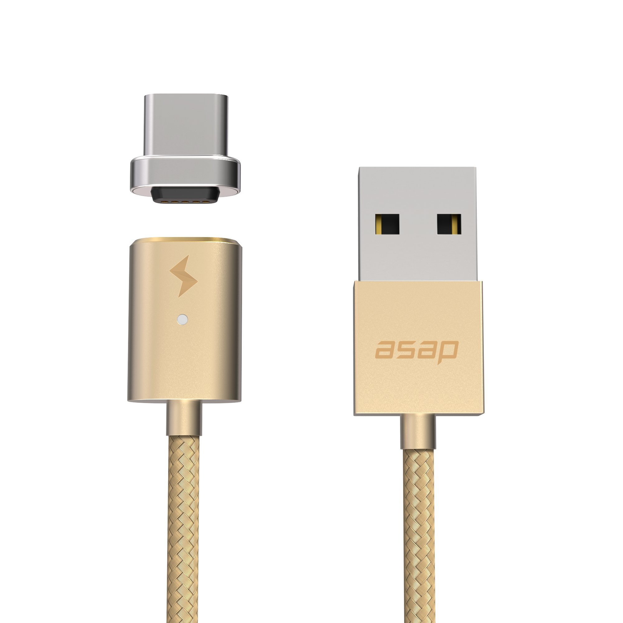 ASAP X-Connect Cable set USB Type C Cross Device Compatible Magnetic Data Transfer Fast Charge 3.94ft Cable