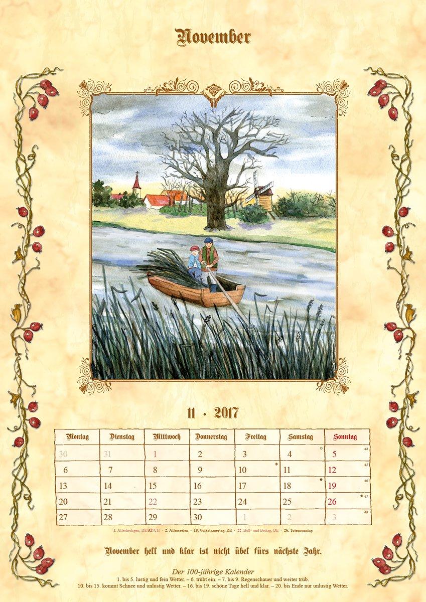 Bauernkalender 2017 Mit Bauernregeln Und Hundertjahrigem Kalender