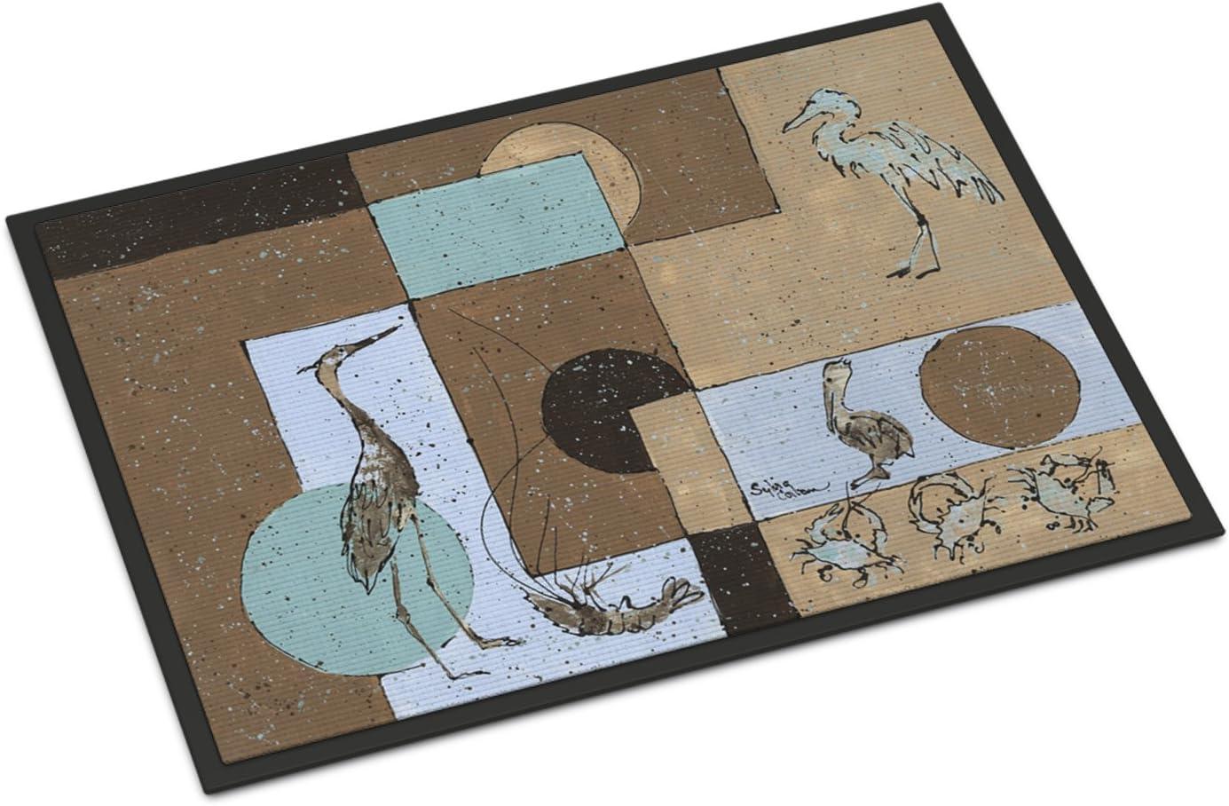 Caroline s Treasures 8103-JMAT Blue Heron Indoor or Outdoor Mat 24×36 8103 Doormat, 24H X 36W, Multicolor