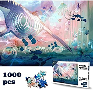"""Puzzles for Adults 1000 Piece Jigsaw Puzzles 1000 Pieces for Adults Kids - Ocean Whale Shark Large Art Puzzle Aquarium Theme (27"""" X 20'') - Officially Licensed Artwork"""