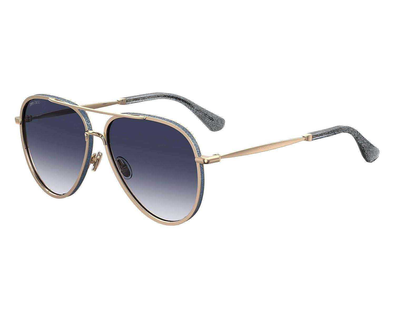 Jimmy Choo TRINY S LKS gold bluee TRINY S Pilot Sunglasses Lens Category 2 Siz