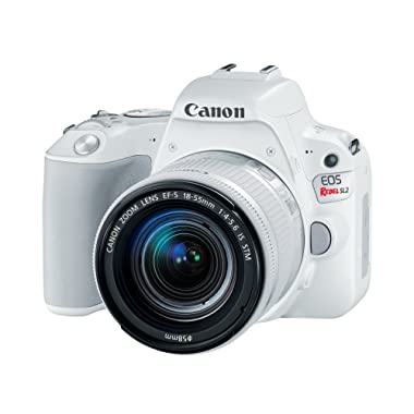 Canon EOS Rebel SL2 DSLR Camera with EF-S 18-55mm STM Lens - WiFi Enabled, White