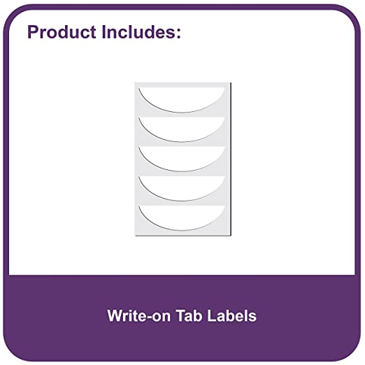 Amazon.com : C-Line Biodegradable Colored Tab Poly Index Dividers ...
