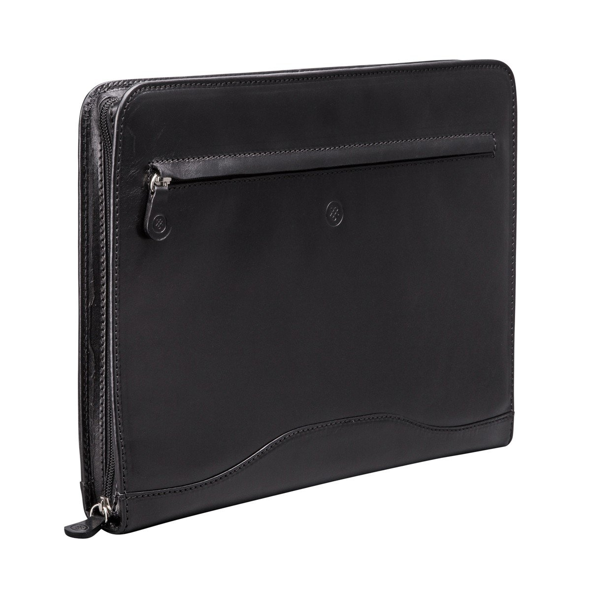 Maxwell Scott Personalized Black Leather Conference Folder with Ringbinder (The Veroli) by Maxwell Scott Bags (Image #3)