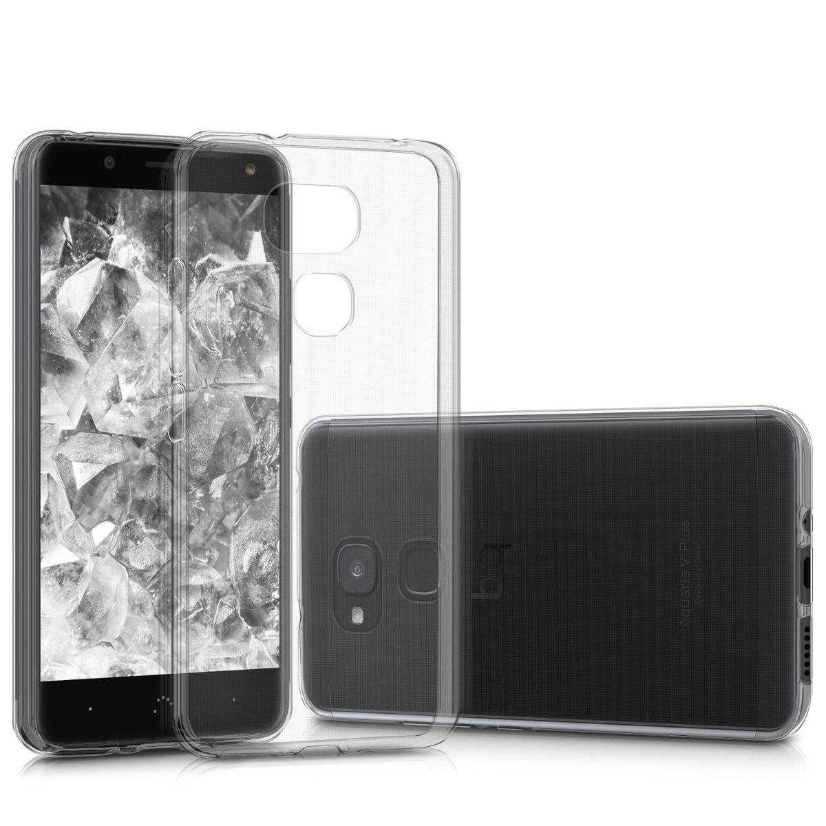 Amazon.com: kwmobile Crystal Case for bq Aquaris V Plus ...